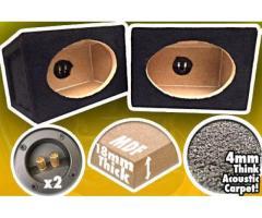 """x 2 6x9 BOX SPEAKER ENCLOSURES 4 CAR AUDIO SPEAKERS 6X9"""""""