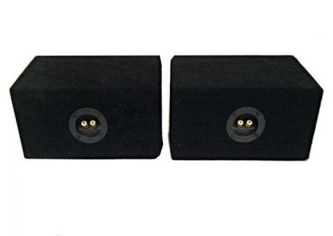x 2 6x9 BOX SPEAKER ENCLOSURES 4 CAR AUDIO SPEAKERS 6X9""