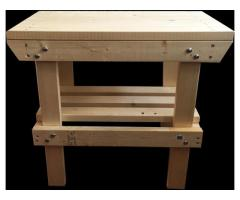 4 x 3Ft. HIGH NEW HEAVY DUTY VERY SOLID WOODEN WORK BENCH STRONG HAND MADE